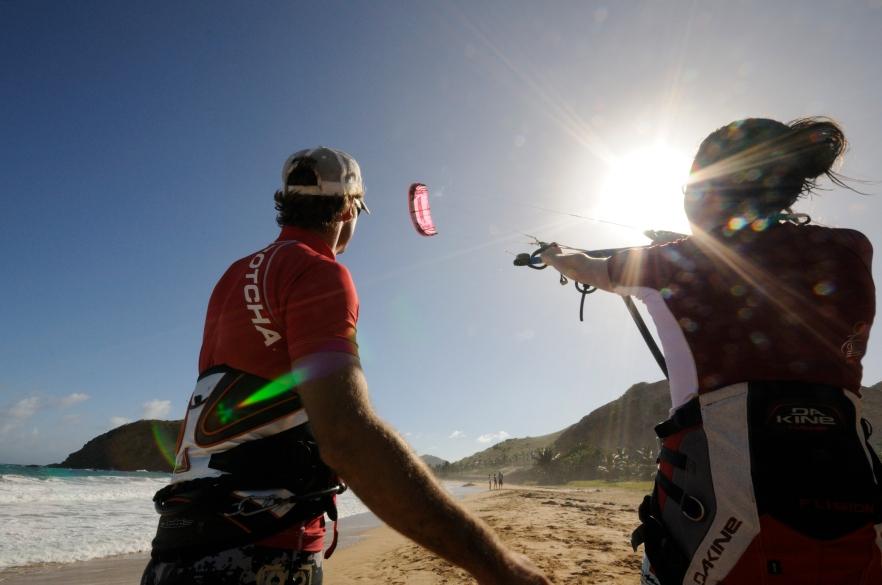 Kite beach training